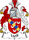 English Coat of Arms for Liall or Lyall