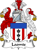 English Coat of Arms for Lomas or Loomis