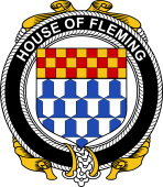 Irish Coat of Arms Badge for the FLEMING family