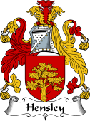 English Coat of Arms for Hensley