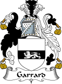 English Coat of Arms for Garrard or Garratt