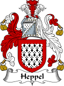 English Coat of Arms for Heppel