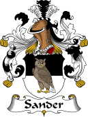 German Wappen Coat of Arms for Sander