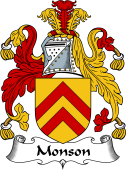 English Coat of Arms for Monson or Munson