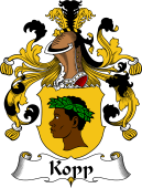 German Wappen Coat of Arms for Kopp