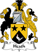 English Coat of Arms for Heath