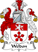 English Coat of Arms for Weldon