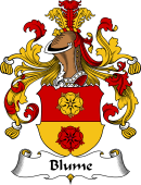 German Coat of Arms for Blume