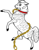 Lamb Rampant Collared & Chained