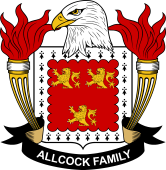 American Coat of Arms for Allcock