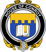Irish Coat of Arms Badge for the CONROY (O'MULCONRY) family