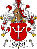 German Wappen Coat of Arms for Gabel