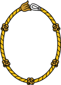 Rope Bordure Oval Shield