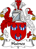 English Coat of Arms for Haines or Haynes