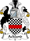 English Coat of Arms for Ackland