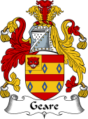 English Coat of Arms for Geare