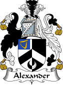 English Coat of Arms for Alexander
