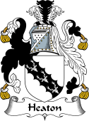 English Coat of Arms for Heaton or Heton