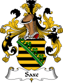 German Wappen Coat of Arms for Saxe