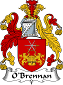 Irish Coat of Arms for O'Brennan (Ossory)