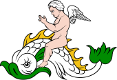 Dolphin with Cherub Riding