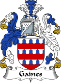 English Coat of Arms for Gaines