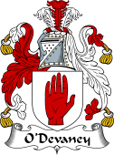 Irish Coat of Arms for O'Devaney