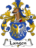 German Wappen Coat of Arms for Langen
