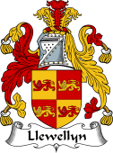 English Coat of Arms for Llewellyn (Wales)