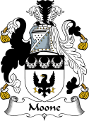 English Coat of Arms for Moone or Moon