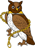 Owl Rampant Collared & Chained