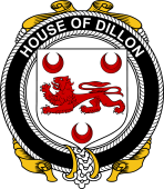 Irish Coat of Arms Badge for the DILLON family