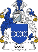 English Coat of Arms for Gale or Gall