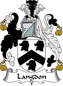 English Coat of Arms for Langdon