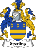 English Coat of Arms for Sperling or Spurling