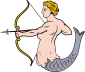Mermaid Drawing Bow and Arrow