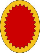 Oval Shield-Bordure Indented