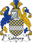 English Coat of Arms for Calthorp or Calthrop