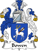 English Coat of Arms for Bowen (Wales)