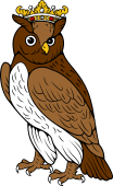 Owl Close Ducally Crowned