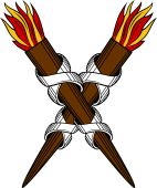 Torch 8- in Saltire (Medieval Flame))