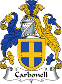 English Coat of Arms for Carbonell