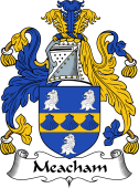 English Coat of Arms for Meacham