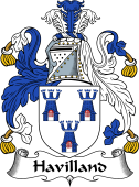 English Coat of Arms for Havilland