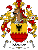 German Coat of Arms for Meurer