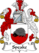 English Coat of Arms for Speake