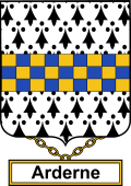 English Coat of Arms Shield Badge for Arderne
