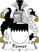 Irish Coat of Arms for Power or LePoer