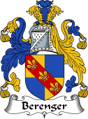 English Coat of Arms for Berenger or Beringer