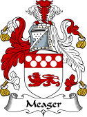 English Coat of Arms for Meager